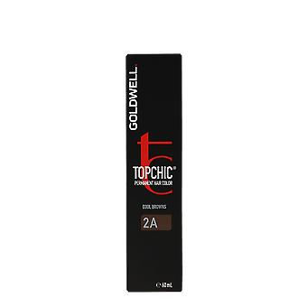 Goldwell Top Chic 2A Cool Browns Blue Black Permanent Hair Color 60ml