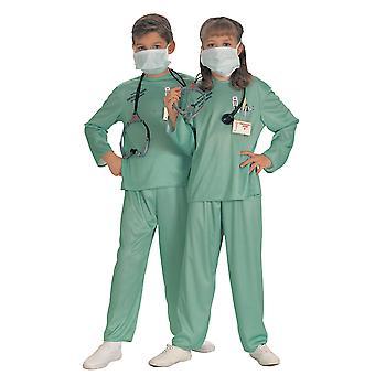 مستشفى الجراح الطبيب ER 5Pce سماعة قناع البنات موحدة الأولاد زي