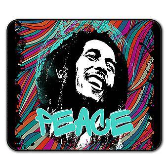 Marley Frieden 42 Rasta Anti-Rutsch-Mauspad Pad 24 x 20 cm | Wellcoda