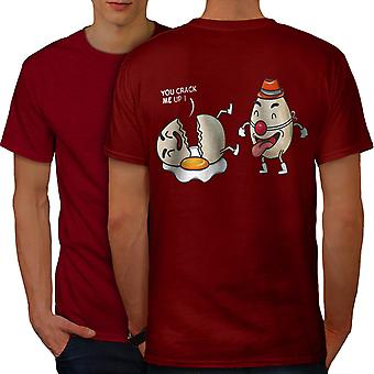 Funy Laughing Clown Men RedT-shirt Back | Wellcoda