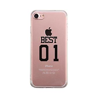 Best01-LEFT Clear Case Cute Best Friend Matching Gifts Ultra Slim