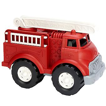 Green Toys Eco Friendly Fire Truck with Moveable Ladders 100% Recycled Vehicle