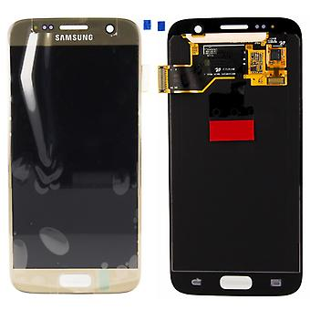 Vise LCD komplet sæt guld for Samsung Galaxy S7 G930 G930F GH97-18523 C.