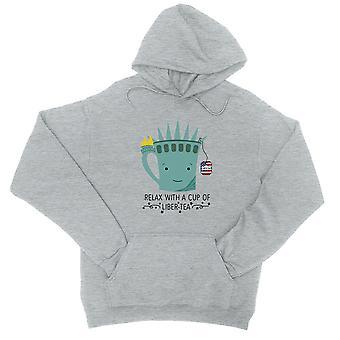 Tazza di Liber-tè Pullover Hoodie grafico grigio sveglio del 4 luglio regalo