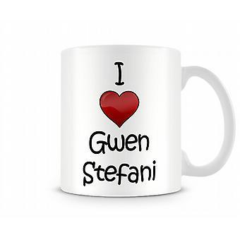 I Love Gwen Stefani Printed Mug