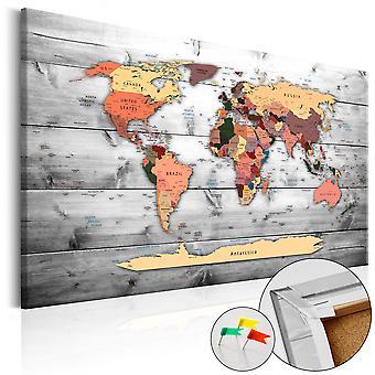 Korkbild - Direction World [Cork Map]