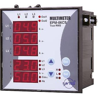 ENTES EPM-06CS-96 Programmable 3-PHASE BUILD-AC-Multimeter EPM-06 CS-96 Voltage, current, frequency, operating hours, Total Hours