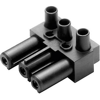 Adels-Contact AC 166 GBU/ 3 Mains connector AC Series (mains connectors) AC Socket, right angle Total number of pins: 2 + PE 16 A Black 1 pc(s)