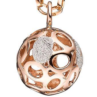 Banhado a ouro de prata esterlina 925 pingentes bola bicolor com estrutura