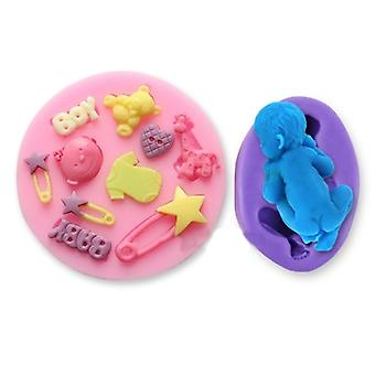 Silicone Cake Decoration Fondant Bakeware Mould Mold Birthday Party Baby Themed