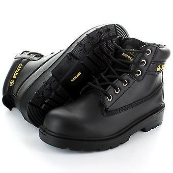 Amblers Steel FS112 Black 6 Eyelet Pad Top Safety Toe Cap Boot