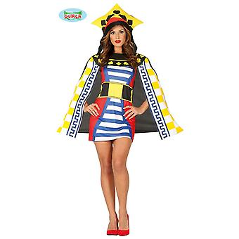 Card game Queen costume ladies card costume Queen costume Poker