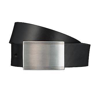 SAKLANI & FRIESE belts men's belts leather belt black 3399