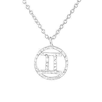 Gemini Zodiac Sign - 925 Sterling Silver Plain Necklaces - W36713x