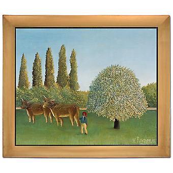 With Ram THe Pasture, Henri Rousseau, 61x51cm