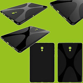 Funda para Samsung Galaxy tab A 10.5 T590 la manga serie de funda protectora silicona X-line negro / T595 2018