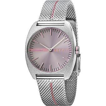 ESPRIT Damenuhr Uhren Quarz analog Spectrum grau Mesh