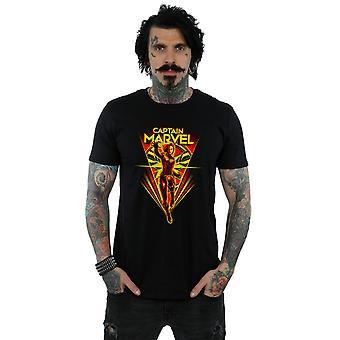 Marvel miesten Kapteeni Marvel Flying V t-paita