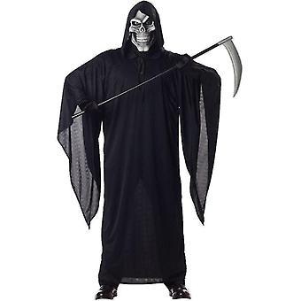 رجل الموت الجمجمة غريم ريبر هالوين الرعب يتوهم اللباس زي