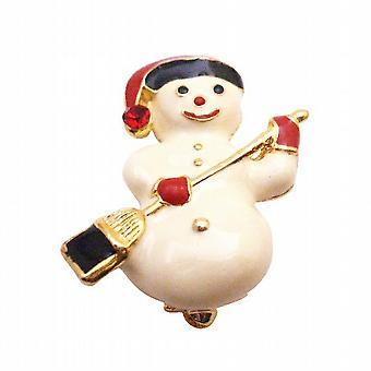 الهدية ثلج لطيف يبتسم بروش ثلج الشتاء كعكة عيد الميلاد