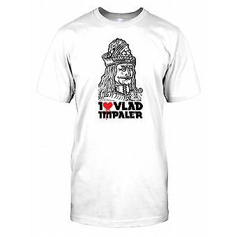 Ik hou van Vlad de Spietser - Dracula thema Mens T Shirt