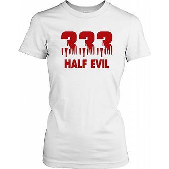 333 meio mal feminina T-Shirt