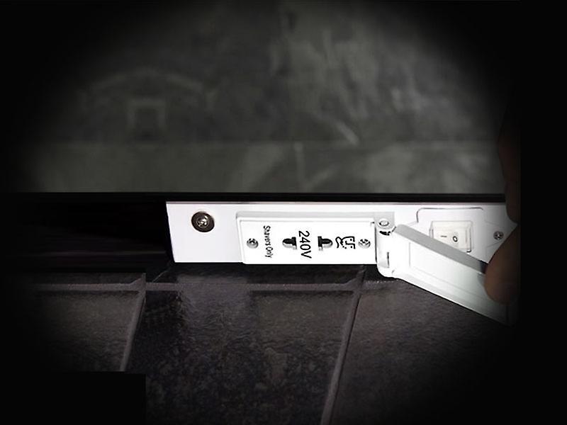 Audio Haiti Double Edge LED Bathroom Shaver Mirror k1111vaud