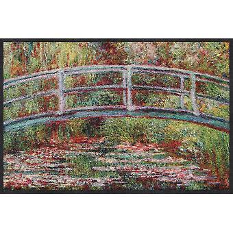 Salon lion paillasson pont nénuphars Claude Monet