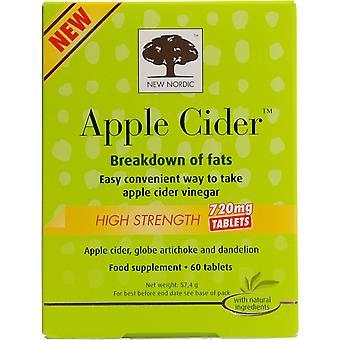 新しい北欧のアップル サイダー酢 720 mg x60 タブレット