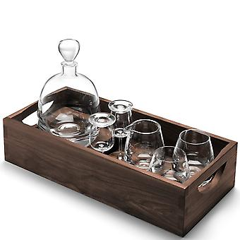 LSA internationale Whisky Islay kenner Set & dienblad van Walnut