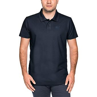 Jack Wolfskin Mens Pique Polycotton Robust Quick Drying Polo Shirt