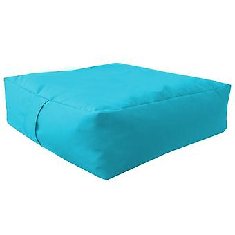 Turquoise Water Resistant Large Bean Floor Garden Slab Cushion Stool Pouffe