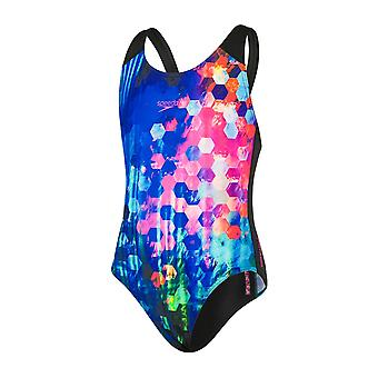 Speedo Placement Digital Splashback Swimwear For Girls