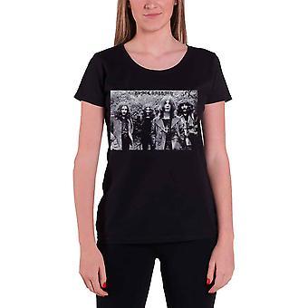 خمر الأسود السبت T قميص فريق إطلاق النار الرسمي النسائي نحيل تناسب الأسود الجديد