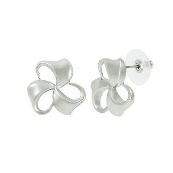 Eternal Collection Bows Classic Silver Tone Stud Pierced Earrings