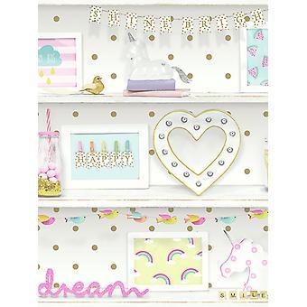 Mädchen Leben Bücherregal Tapete Multi Arthouse 696004