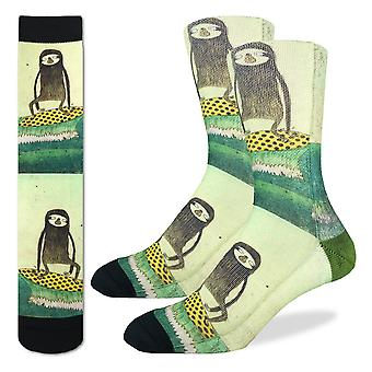 Socks - Good Luck Sock - Men's Active Fit - Surfing Sloth (8-13) 4025