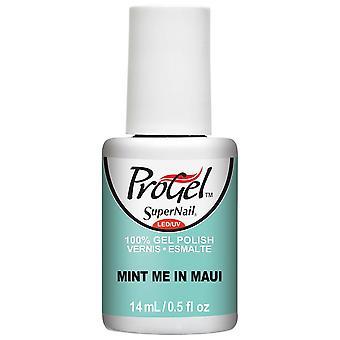 SuperNail ProGel Tropical Pop Gel Nail Polish Collection - Mint Me In Maui 14ml