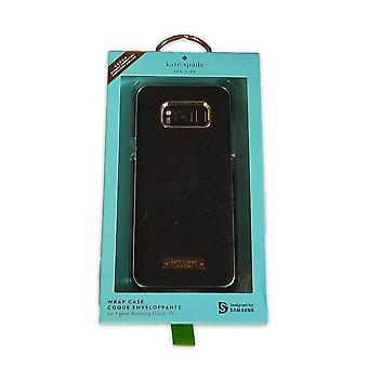 Kate Spade New York nahka wrap kotelo Samsung Galaxy S8 Plus-Saffiano musta