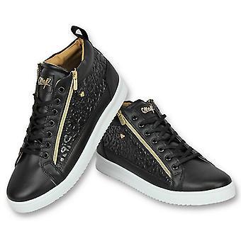 Shoes - Sneaker Croc Black Gold - Black