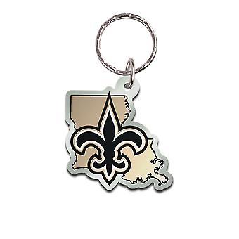 Wincraft STATE Keychain - NFL New Orleans Saints