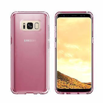 Samsung S8 Plus och S8 Duos Plus Mål Transparent Rosa - CoolSkin3T