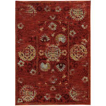 Sedona 6386e red/gold indoor area rug rectangle 6'7
