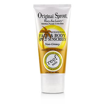 Original Sprout Tahitian Family Collection Face & Body Spf 27 Non-greasy Suncreen - 90ml/3oz