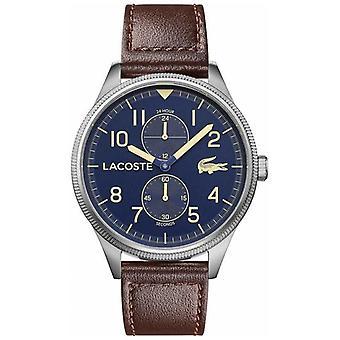 Lacoste   Men's Continental   Braun Lederarmband   Blaues Zifferblatt   2011040 Uhr