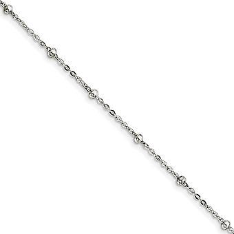 925 Sterling hopea split ring 1mm helmillä ketjun nilkkakoru 9 tuuman kevätrengas korut lahjat naisille