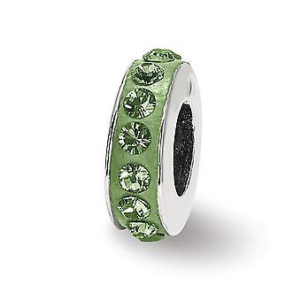925 plata esterlina pulido reflexiones agosto una sola fila cristal perlas encanto colgante collar joyas regalos para las mujeres