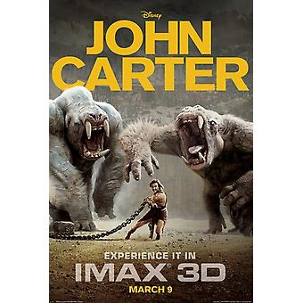 John Carter (Imax) Affiche Double Sided Advance (2012) Original Cinema Poster