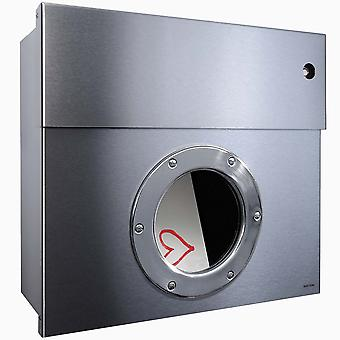 RADIUS letterbox Letterman 1 stainless steel with LED Ring red 505 KR