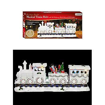 Die Weihnachtswerkstatt 40cm Light Up Musical Train Xmas Szene Dekoration